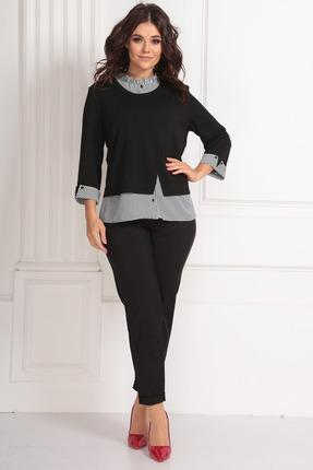 женская блузка solomeya lux, черная