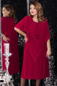 Платье LeNata 11059 марсала