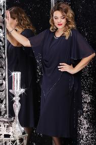 Платье LeNata 11059 темно-синий