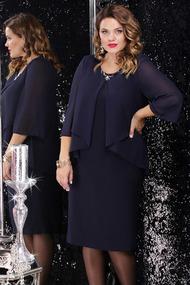Платье LeNata 12065 темно-синий