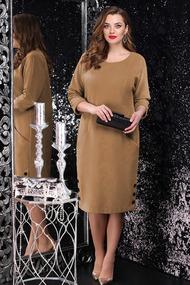 Платье LeNata 11076 рыжий