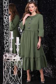 Платье LeNata 11071 хаки