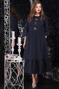 Платье LeNata 11071 темно-синий