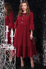 Платье LeNata 11071 бордо