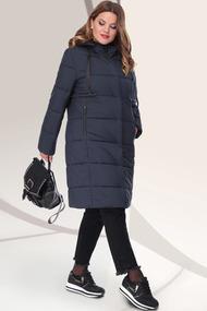 Пальто LeNata 11041 темно-синий