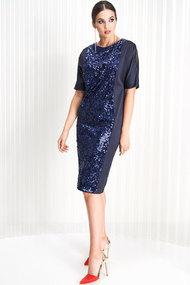 Платье ЛЮШе 2174 синий