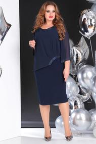 Платье SandyNa 13645 темно-синий