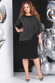 Платье SandyNa 13645 черный с люрексом