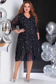 Платье SandyNa 13650 темно-синий