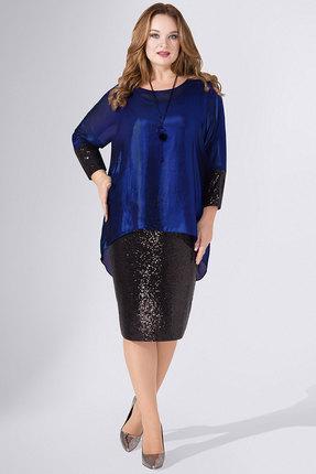 Платье Avanti Erika 736-2 черно-синий