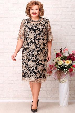 Платье Aira Style 716 золото с черным