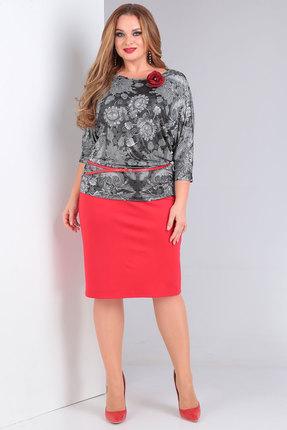 Комплект юбочный Danaida 1782 серый с красным
