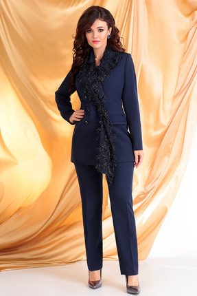 Комплект брючный Мода-Юрс 2530 синий