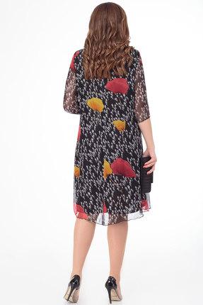 Фото 2 - Платье Дали 4295 черный с цветным цвет черный с цветным