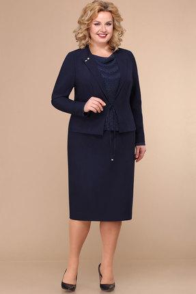 женское платье для офиса линия-л, синее