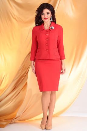 Комплект юбочный Мода-Юрс 2249-1 красные тона