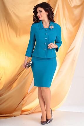 Комплект юбочный Мода-Юрс 2249-1 темно-голубой