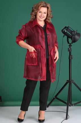 женский брючный костюм celentano, красный