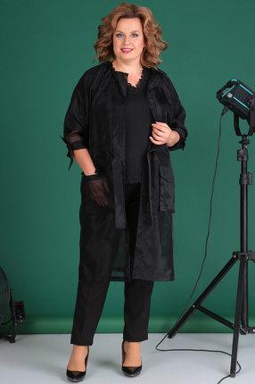 женский брючный костюм celentano, черный