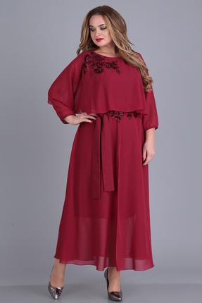 Платье Anastasia Mak 673 бордовый
