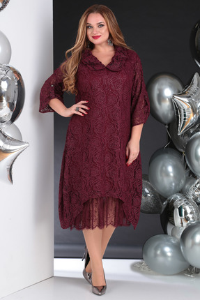 Платье SandyNa 13650 бордо