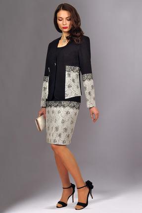Купить со скидкой Комплект плательный Миа Мода 1116 серый с черным