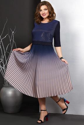 Платье Мублиз 391 синий с розовым
