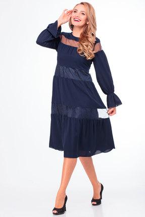 Платье Anelli 789 синий