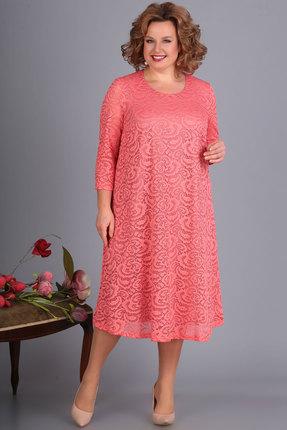 Платье Algranda 3378-5 персик Новелла Шарм