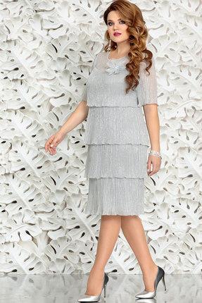 Платье Mira Fashion 4389-7 серебро