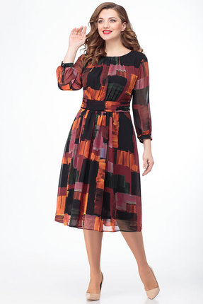 Платье Дали 5418 терракот