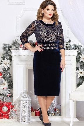 Платье Mira Fashion 4722-3 тёмно-синий