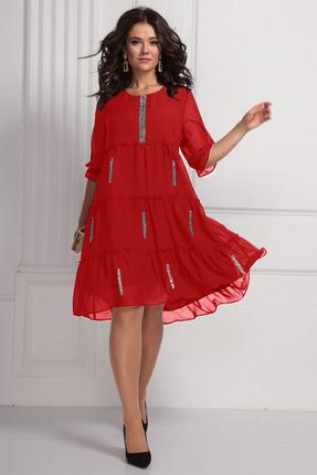 Фото 2 - Платье Solomeya Lux 608 красный красного цвета