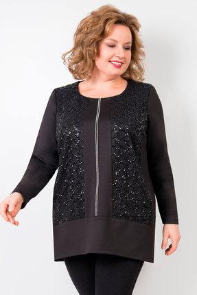 женская туника tricotex style, черная
