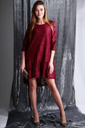 Платье Axxa 55119 бордо