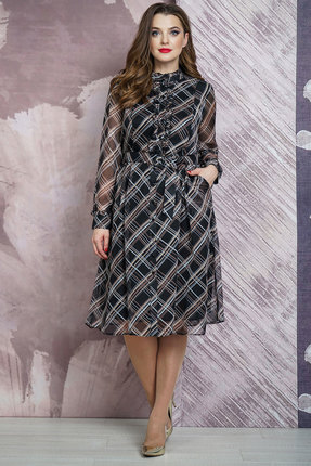 Платье Белтрикотаж 6859 черный БЕЛТРИКОТАЖ