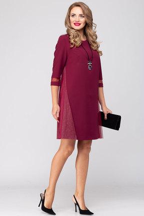 Платье Viola Style 0890 бордовые тона