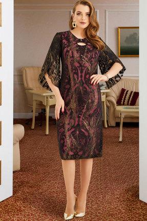 Платье Lissana 3892 черный с розовым