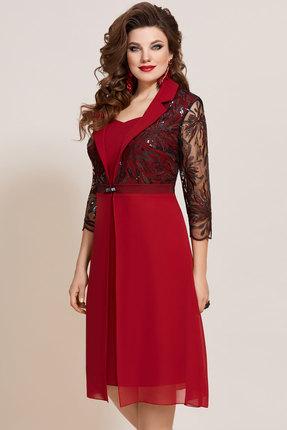 женское вечерние платье vittoria queen, бордовое