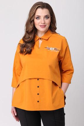 женская блузка danaida, оранжевая