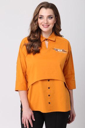 Фото 2 - Блузку Danaida 1790 оранжевый оранжевого цвета