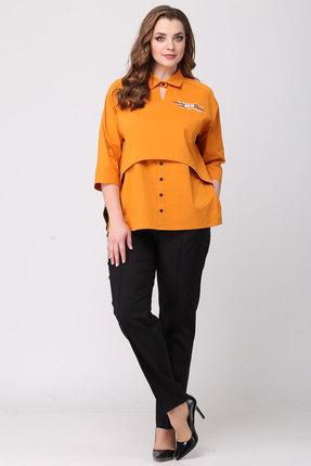 Фото 3 - Блузку Danaida 1790 оранжевый оранжевого цвета
