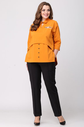 Фото 4 - Блузку Danaida 1790 оранжевый оранжевого цвета