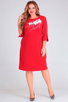 Платье Andrea Style 00241 красный