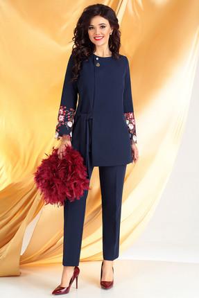 Комплект брючный Мода-Юрс 2462 синий+бордо