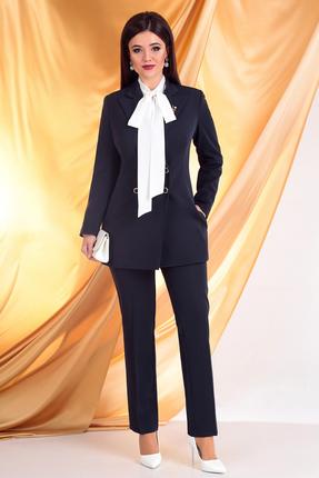 женский брючный костюм мода-юрс, синий