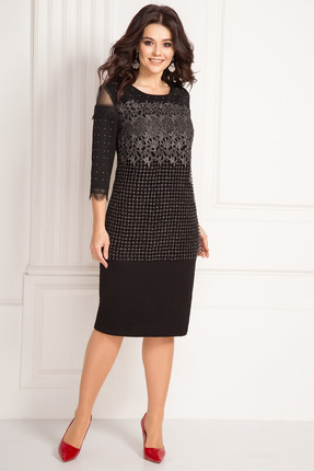 женское вечерние платье solomeya lux, черное
