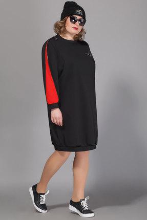 Спортивное платье Сч@стье 7040-3р черный