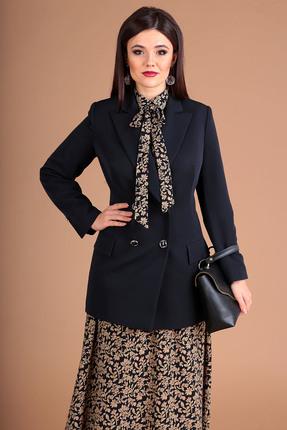 женский жакет мода-юрс, синий