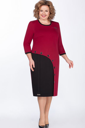 женское повседневные платье теллура-л, бордовое